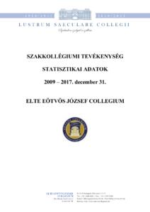 Statisztika 2009 - 2017. december előlap